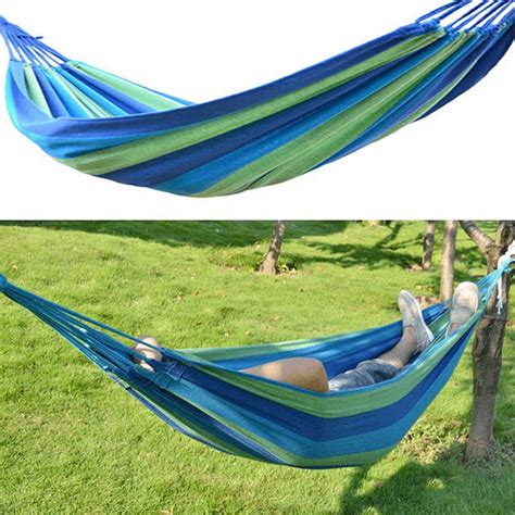 swing travel new portable canvas garden hammock outdoor cing travel