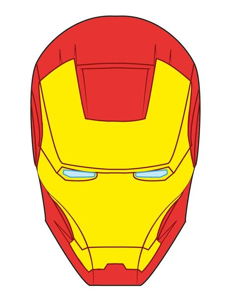 ironman helmet template iron mask fondant search bakery