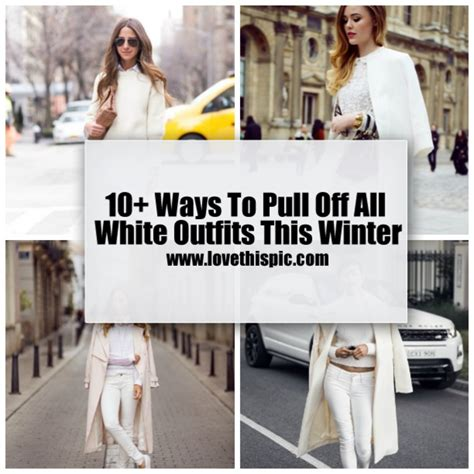 ways  pull   white outfits  winter