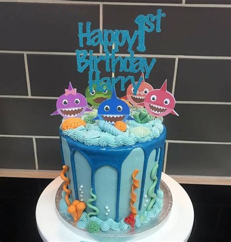 baby shark cake toppers etsy