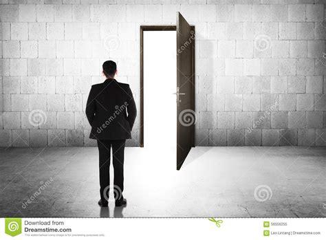 business going to the open door stock photo image