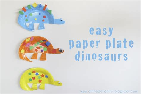 8 Delightful Crafts a delightful craft paper plate dinosaurs