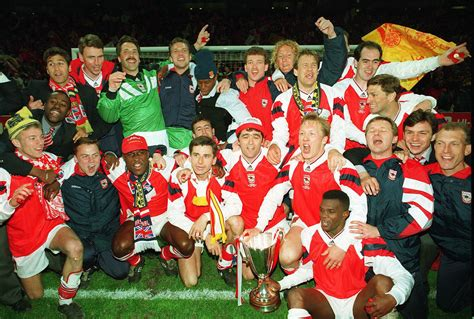 Kaos Arsenal Afc Legends White arsenal celebrate winning the 1994 cup winners cup flickr