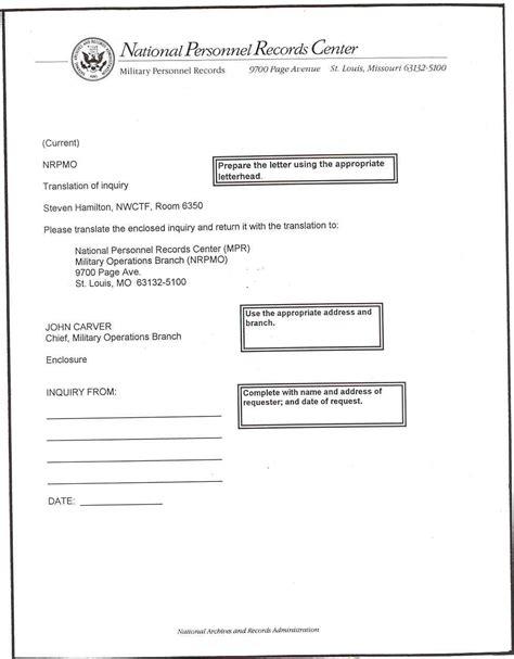 Transmittal Letter Translate Sle Letter Of Transmittal Requesting Translation From Nara Employee