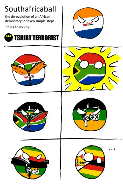 Africa Meme - polandball at the ballot box south africa ball by tshirt
