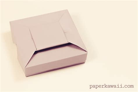 Origami Gift Boxes - origami bow gift box tutorial paper kawaii