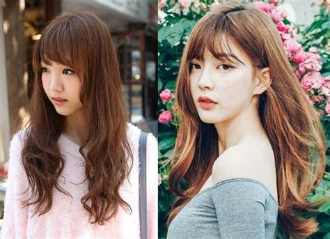 korean hairstyle  bangs