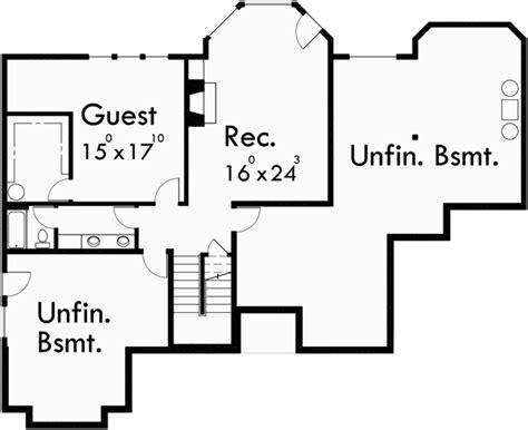 custom ranch house plan w daylight basement and rv garage custom ranch house plan w daylight basement and rv garage