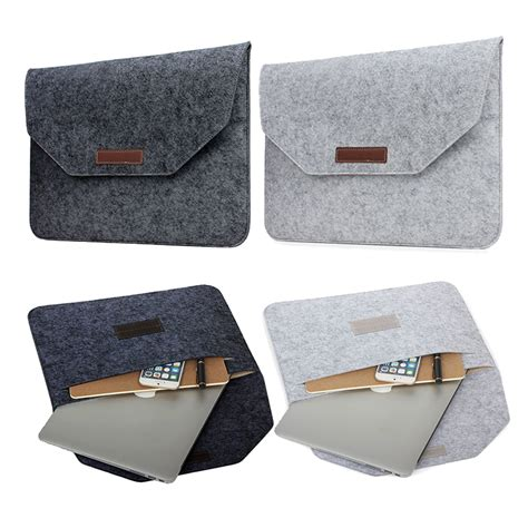 Promo Tas Laptop Sleeve Felt Macbook Pro Air Retina 11 12 slim wool felt for macbook pro retina 13 15 sleeve bag notebook flip laptop cover for macbook