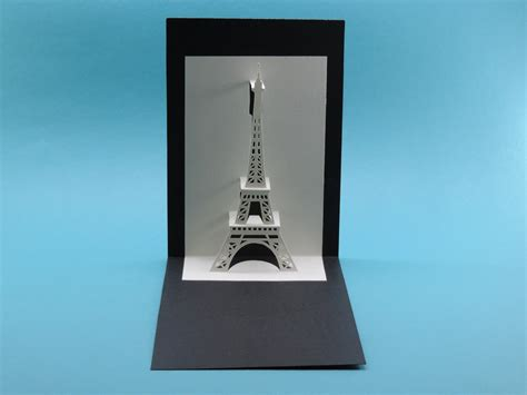 pop up cards templates eiffel tower eiffel tower origamic architecture pop up card