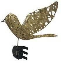 dove christmas tree topper gold bird dove shiny glitter wire tree topper 9