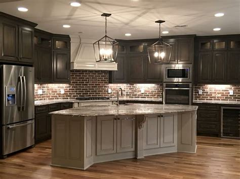 Stone Backsplashes For Kitchens best 25 dark kitchen cabinets ideas on pinterest dark