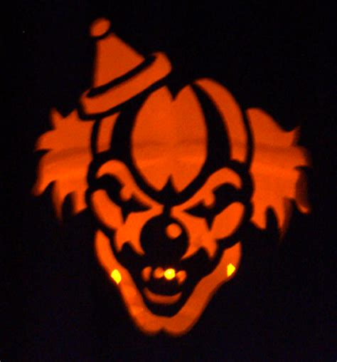 scary clown pumpkin patterns related keywords scary