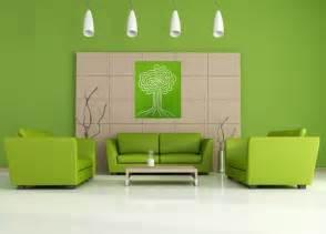 Interior idea for green living room