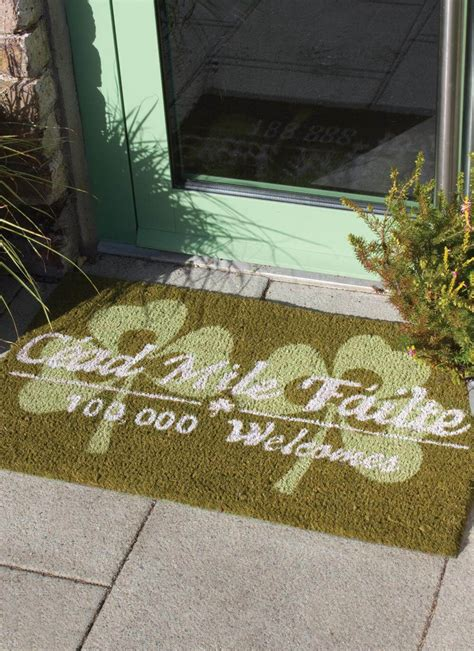 Cead Mile Failte Doormat by Shamrock Welcome Mat Blarney