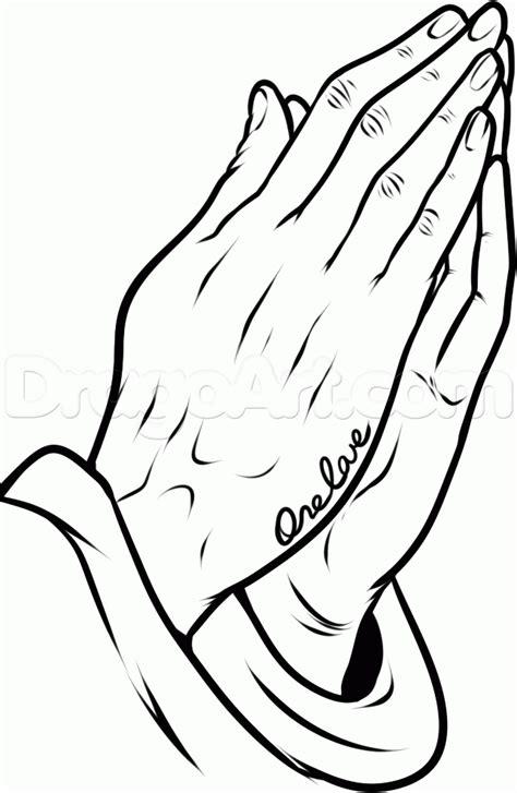 tattoo hand drawing how to draw praying hands tattoo step 10 drawings