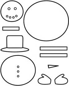 Snowman  Paper Craft Black And White Template sketch template