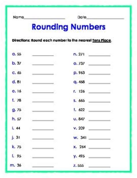 Rounding Numbers Worksheets by Homework Help Questions And Answers