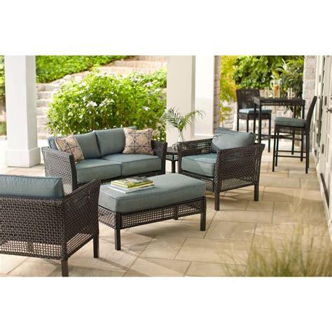 hampton bay fenton  piece wicker outdoor patio seating