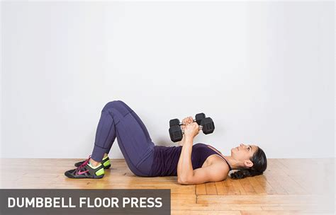 dumbbell bench press on the floor 30 dumbbell exercises missing from your routine greatist