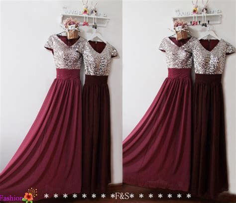 New Terbaru Hijabjilbab Sequin Pet burgundy prom dress prom evening formal dress sequin