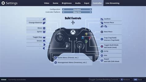 fortnite builder controls changing default controls in fortnite battle