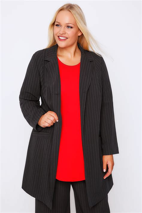 Can You Return Items Bought With A Gift Card - black pinstripe longline blazer jacket with single button