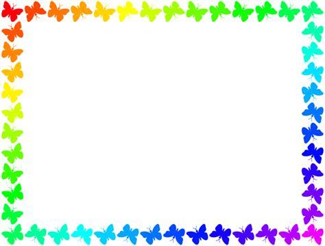 cornici colorate da stare clipart butterfly frame colourful