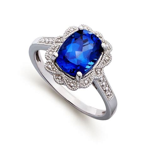 Blue Rings by Blue Gem Engagement Ring Knowzzle