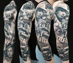 prohibition tattoo al capone top arm part of prohibition times gangster style