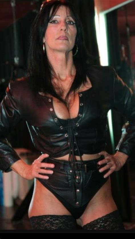 mistress cuts hair tube strong abrasive dominant women mature in leather