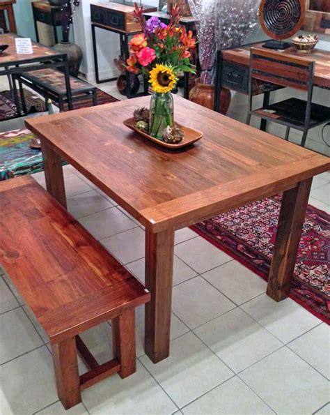 Teak Dining Table 3 Foot X 5 Foot With 4 Legsimpact Imports