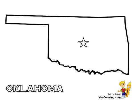 oklahoma state map images
