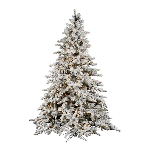 what is a flocked tree 14 ft white flocked downswept clear stay lit lights utica