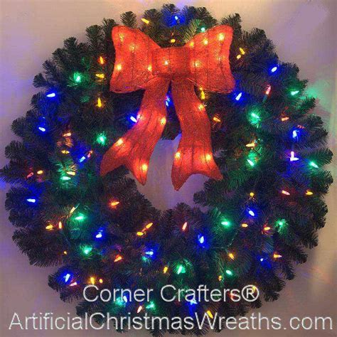 36 inch color changing l e d lighted christmas wreath