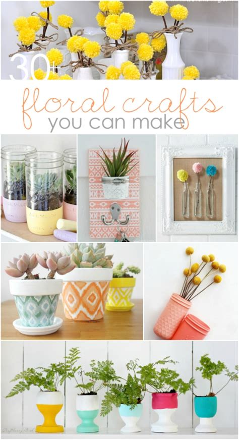 crafty home decor ideas 30 floral crafts to make 187 lolly jane
