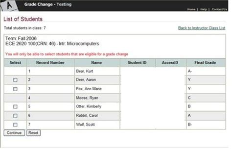 Wayne State College Mba Grading Scale by Changing Grades Office Of The Registrar Wayne State
