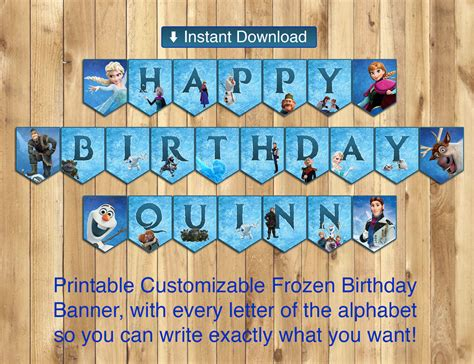 printable frozen banner letters printable frozen happy birthday banner all instbirthday