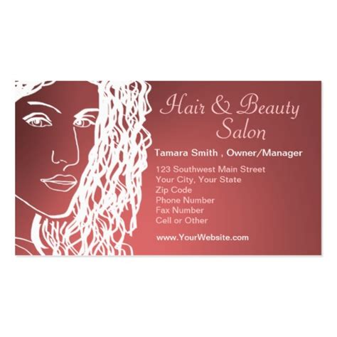 hair beauty salon business card templates