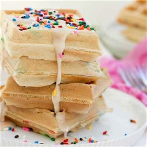 how to make funfetti waffles tip junkie