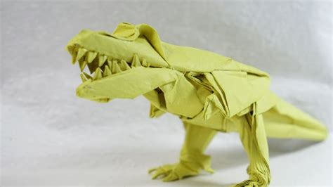 Origami Tyrannosaurus Rex - origami t rex part1 3 versi on the spot
