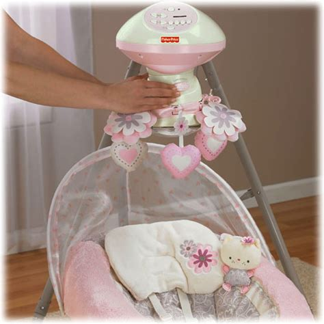 fisher price baby swings that plug in fisher price cradle swing my little sweetie plug in new