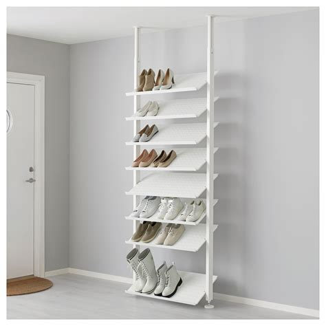 shoe shelf storage elvarli shoe shelf white 80x36 cm ikea