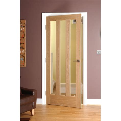 interior oak veneer doors alnwick oak veneer 3 lite glazed interior door next day