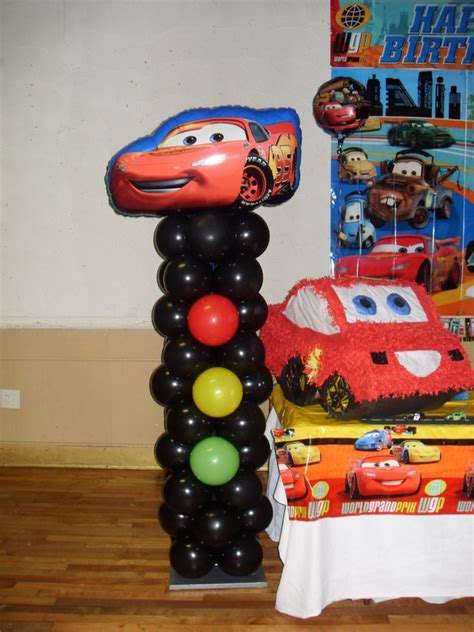 balloon decoration cars theme cars decorations by teresa