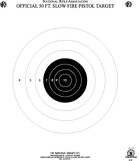 printable pistol 10 yard targets nra targets