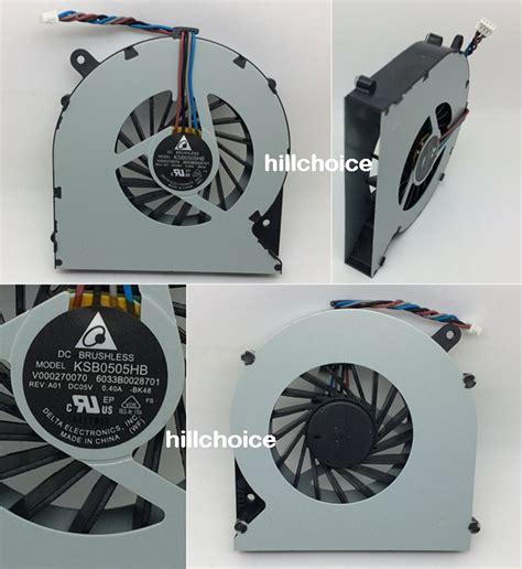 toshiba satellite l850 l850d laptop cpu fan 4 pin 6033b0028701 ksb0505hb bk48 ebay