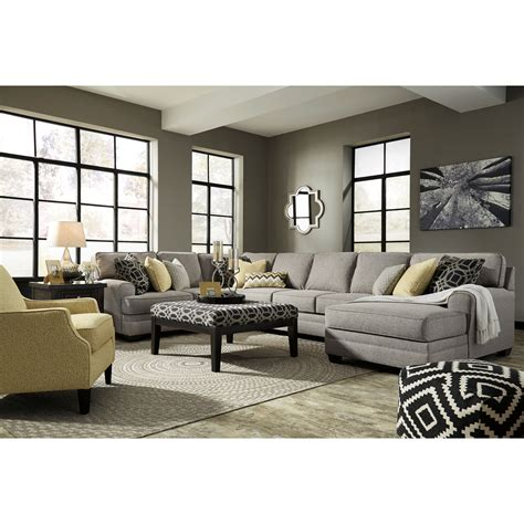 4 piece sectional sofa with chaise benchcraft cresson contemporary 4 piece sectional with