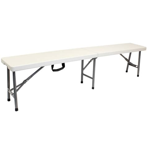 portable bench seat hartleys 6ft lightweight portable folding bench 1 8m
