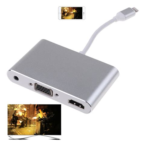 Lightning To Hdmi Vga Audio Konverter Iphone To Hdmi Vga Converter h57 lightning auf hdmi vga audio adapter konverter